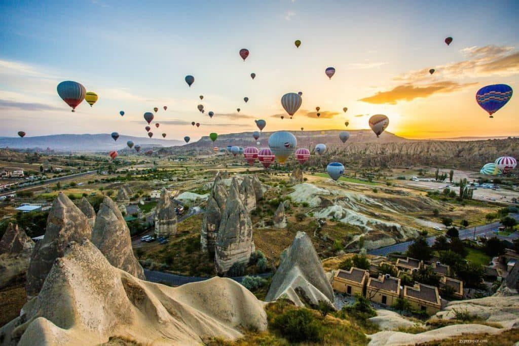 Фестиваль Воздушных Шаров в Каппадокии Турция